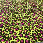 Black Hot Pink Leopard Print on Neon Yellow