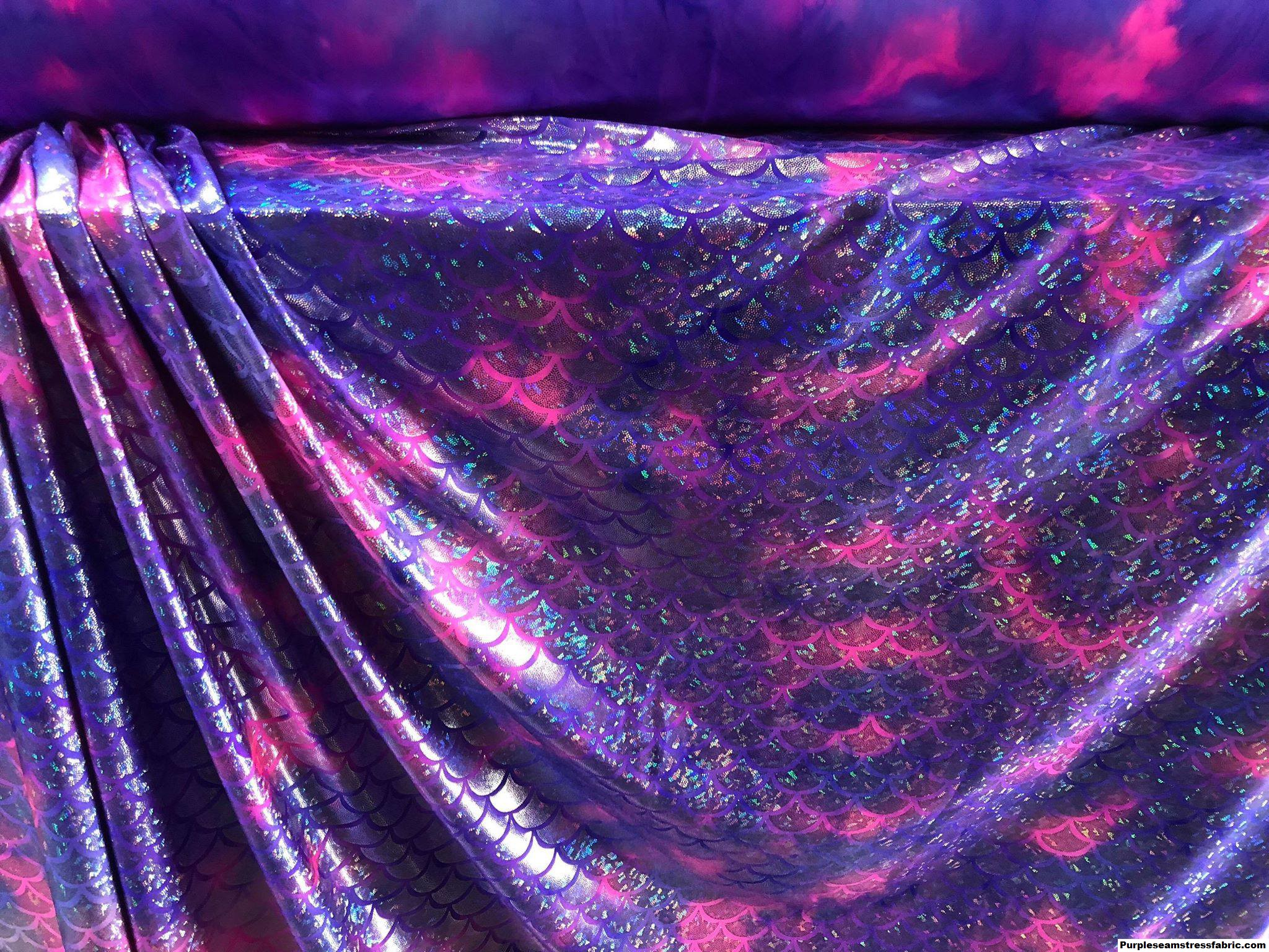 11a357bb9529c Tie-Dye Purple/Pink Mermaid Scales Swimsuit