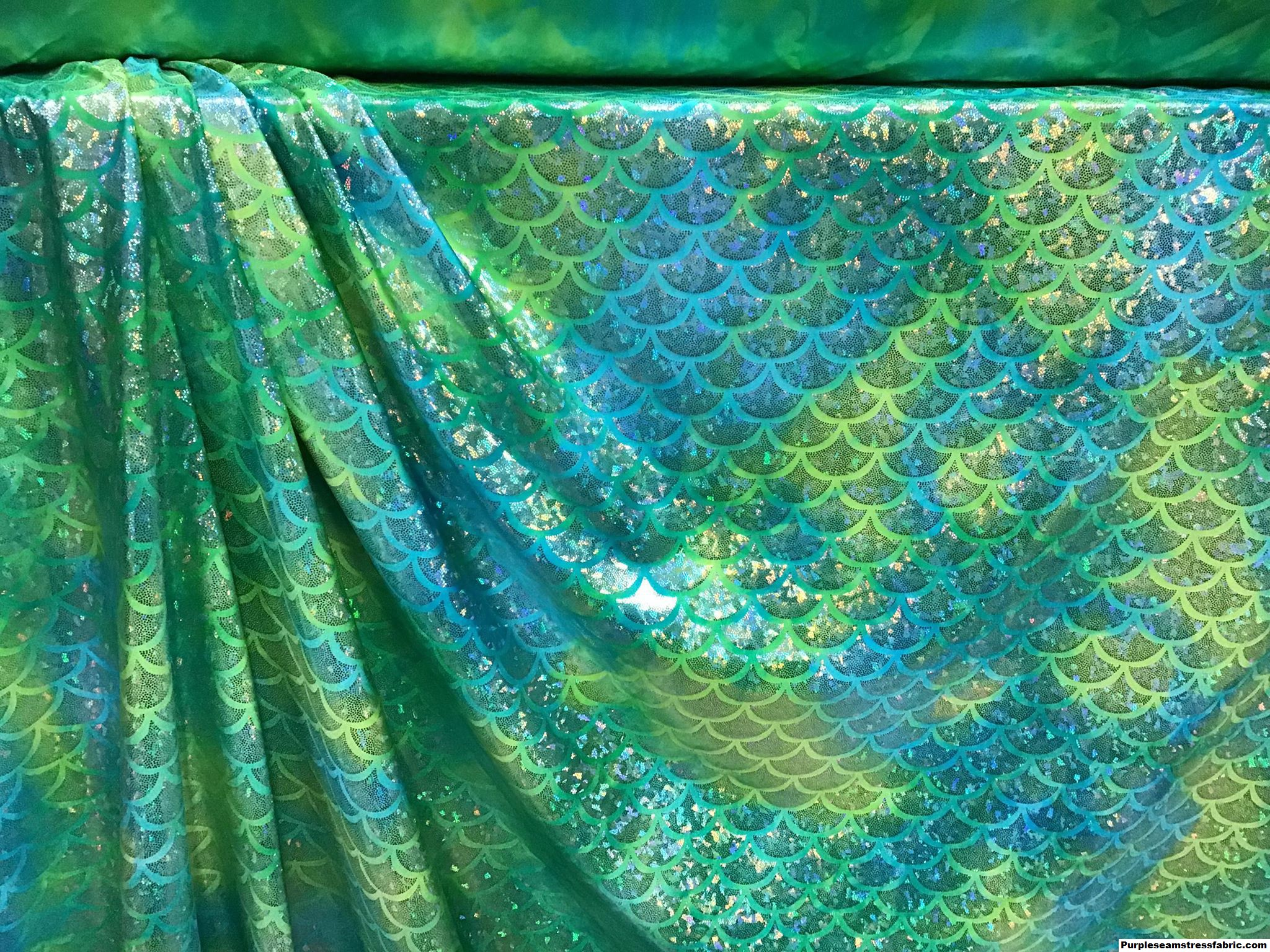 146a33e938 Tie-Dye Turquoise/Lime Mermaid Scales Swimsuit